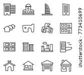 thin line icon set   houses ... | Shutterstock .eps vector #773410699