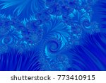 blue christmas winter... | Shutterstock . vector #773410915