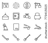 thin line icon set   shop... | Shutterstock .eps vector #773415025