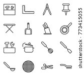 thin line icon set   tools ... | Shutterstock .eps vector #773415055