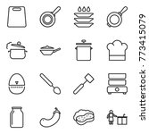 thin line icon set   cutting... | Shutterstock .eps vector #773415079
