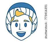 boy with winter hat face | Shutterstock .eps vector #773416351
