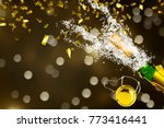 party background with brisk... | Shutterstock . vector #773416441