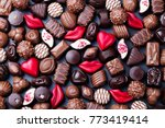 assortment of fine chocolate... | Shutterstock . vector #773419414