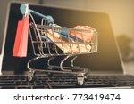 shoping online concept ...   Shutterstock . vector #773419474