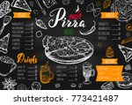 italian food menu for... | Shutterstock .eps vector #773421487