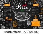 italian food menu for... | Shutterstock .eps vector #773421487