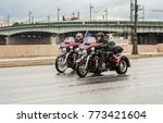 a group of motocycles with... | Shutterstock . vector #773421604
