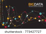 big data visualization....   Shutterstock .eps vector #773427727