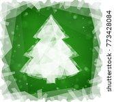 frozen christmas tree on a... | Shutterstock .eps vector #773428084