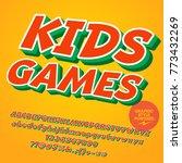 vector colorful children... | Shutterstock .eps vector #773432269