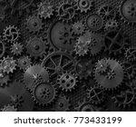 metal gears and cogwheels steam ...   Shutterstock . vector #773433199