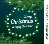 festive cute christmas... | Shutterstock .eps vector #773434111