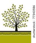 vector oak tree background | Shutterstock .eps vector #77343586