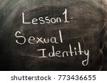 sexual identity text  | Shutterstock . vector #773436655