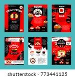 japanese cuisine restaurant and ...   Shutterstock .eps vector #773441125