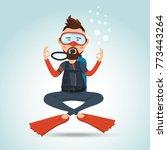 character design  scuba diver...   Shutterstock .eps vector #773443264