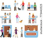 vet clinic set  veterinary... | Shutterstock .eps vector #773443525