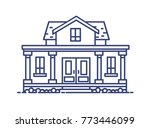two story residential house... | Shutterstock .eps vector #773446099