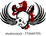 heraldic black wolf soccer f... | Shutterstock .eps vector #773449795