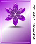 purple logotype in flower shape ... | Shutterstock .eps vector #773452669