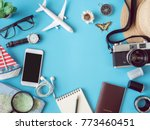 top view travel concept with... | Shutterstock . vector #773460451