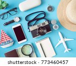 top view travel concept with... | Shutterstock . vector #773460457
