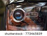 close up detail of car head... | Shutterstock . vector #773465839