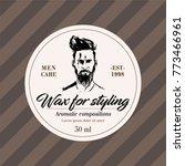 elegant designer labels   beard ... | Shutterstock .eps vector #773466961