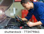 auto mechanic checking car... | Shutterstock . vector #773479861