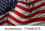 american flag  3d illustration.   Shutterstock . vector #773482375