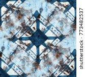 seamless tie dye pattern of... | Shutterstock . vector #773482537