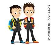 cheerful school children. | Shutterstock .eps vector #773483149