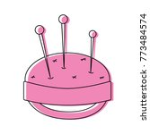 color pin and pincushion sewing ... | Shutterstock .eps vector #773484574