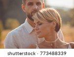 the lovely couple in love... | Shutterstock . vector #773488339