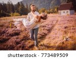 the boy holds on hands his girl | Shutterstock . vector #773489509