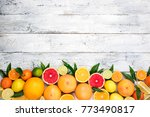 fruits citrus background.... | Shutterstock . vector #773490817