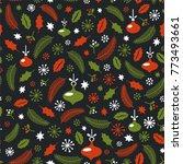 seamless christmas pattern.... | Shutterstock .eps vector #773493661