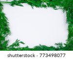 dill stems laid out in the form ... | Shutterstock . vector #773498077