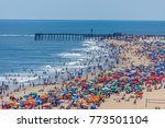 crowded beach in ocean city  md  | Shutterstock . vector #773501104