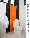 toilet bowl and tile wall in... | Shutterstock . vector #773502001