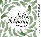 hello february greeting card.... | Shutterstock . vector #773503261