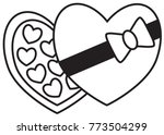 chocolate box and chocolates ... | Shutterstock .eps vector #773504299