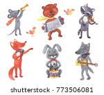 watercolor illustration of... | Shutterstock . vector #773506081