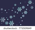 snowflake macro vector... | Shutterstock .eps vector #773509849