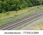 abstract diagonal railroad...   Shutterstock . vector #773511589