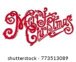 marry christmas logo | Shutterstock .eps vector #773513089