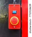 red emergency switch button  in ... | Shutterstock . vector #773518639
