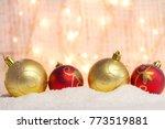 christmas background decoration....   Shutterstock . vector #773519881