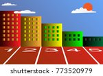 the runway and the tall... | Shutterstock .eps vector #773520979